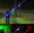 3PC 1mW Laser Beam Pointer Pen Presentation Cat Light Toy Purple+Green+Red Color
