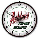 Retro Ashland Gas Gasoline Game Room Man Cave Backlit Lighted Wall Clock NEW