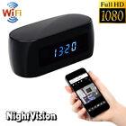 Mini 1080P HD WIFI Spy Hidden Camera Clock Night Vision Video Recorder Nanny Cam