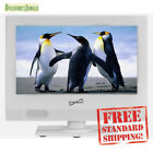 """Supersonic SC-1311 13.3"""" White LED Widescreen HDTV Television  HDMI USB Input TV"""