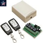 DC 12V 4CH 200M Wireless Remote Control Relay Switch 2 Transceiver+Receiver Glse