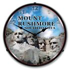 Nostalgic Vintage Style Mount Rushmore Backlit Lighted Wall Clock Man Cave Sign