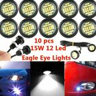 10pc DC12V 15W White Eagle Eye LED DRL Backup Underbody Rock Light Car Auto Lamp