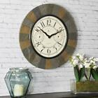 """Wall Clock Thermometer Hygrometer 15.5"""" Round Analog Indoor Outdoor Decoration"""