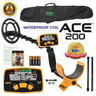 Garrett ACE 200 Metal Detector With WATERPROOF Search Coil & Garrett CARRY BAG