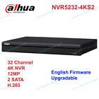 Dahua 4K NVR NVR5232-4KS2 32CH 1U 2 SATA Onvif Network Video Recorder No POE