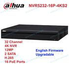 Dahua NVR5232-16P-4KS2 Network Video Recorder 32CH 16POE Ports 2 SATA 1U 1 HDMI