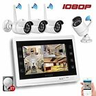 """Wireless Security Camera System 1080P w 12"""" LCD HD Monitor + 2TB Hard Drive New"""