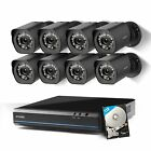 Security Camera System 8CH NVR w 8 720P HD Weatherproof Cameras and 1TB HD New