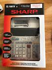 Sharp EL-1801V Electronic 2 Color Printing Calculator Calendar Clock Microban