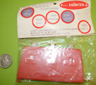 1960's Red Pocket Counter Calculator NEW NOS Manual Coin Counter Made in Japan