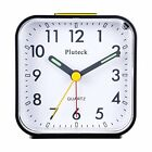 Pluteck Non Ticking Analog Alarm Clock with Nightlight and Snooze/Ascending Soun