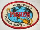 "Fisher Metal Detector Treasure Hunter Patch - Fisher World - 4"" x 3"" - MINT"