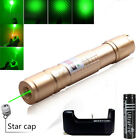 Military Starry Green Laser Pointer Pen 5MW 532nm Burn 18650 Battery + Charger