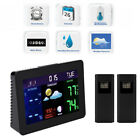 LED Clock With Forecast/Temperature/Humidity For Home Wireless Weather Station
