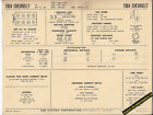 1964 CHEVROLET BISCAYNE/BEL AIR/IMPALA/SS 409 V8 Car SUN ELECTRONIC SPEC SHEET