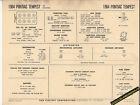 1964 PONTIAC TEMPEST V8 326 ci Engine Car SUN ELECTRONIC SPEC SHEET