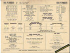 1964 PLYMOUTH VP2 V8 426 ci 4 BBL CARB Engine Car SUN ELECTRONIC SPEC SHEET