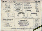 1964 BUICK SPECIAL and SKYLARK V6 225 ci Engine Car SUN ELECTRONIC SPEC SHEET