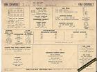 1964 CHEVROLET BISCAYNE/BEL AIR/IMPALA/SS 327 V8 Car SUN ELECTRONIC SPEC SHEET