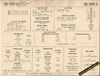 1962 CHEVROLET CHEVY II 6 Cylinder L4 194 ci Car SUN ELECTRONIC SPEC SHEET
