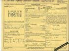 1974 FORD MERCURY TORINO MONTEGO COUGAR 351 ci 2 BBL Car SUN ELECTRIC SPEC SHEET