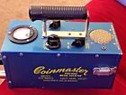 VINTAGE WHITE'S COINMASTER COOL RETRO STEAMPUNK METAL GOLD DETECTOR WORKS GREAT