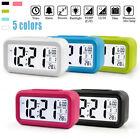 Digital Snooze Alarm Clocks Backlight LED Table Clock Time Temperature Calendars