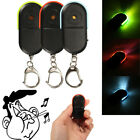Wireless Anti-Lost Alarm Key Finder Locator Whistle Sound LED Light Keychain US