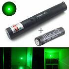 10 miles Green 5MW 532NM Laser Pointer Pen Light Beam Burning + 18650 Battery