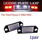 2x 24LED Bright White Number License Plate Lights Lamp For Ford Focus C-MAX MK2
