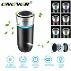 Car USB Air Purifier Touch Switch Anion Air Freshener W/ Colorful LED Light US