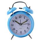 Digital Table Twin Bell Alarm Clock Loud Wake-up Clock Battery Power Blue