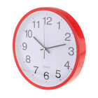 12'' Wall Clock Decorative Analog Clock For Home Kitchen Bedroom Decor-Red