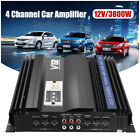 3800Watts Peak 4CH PWM Car Truck Audio Stereo Power Amplifier Amp Aluminum Alloy
