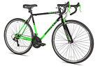 Men's Road Bike 700c RoadTech by Kent 21 Speed Cycling Steel Frame Green/Black