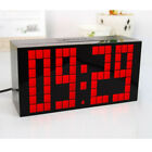 Large Led Digital Alarm Clock Modern Wall Clock Kitchen Countdown Table Desk New