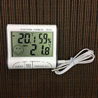 Digital LCD Thermometer Hygrometer Sensor Temperature Meter Gauge Clock Hot