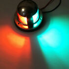 Stainless Steel Boat Marine Yacht Bow Navigation LED Light Green & Red 5W 12V