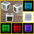 Ford Mustang 7 colors Digital Glowing Alarm Thermometer Clock Night Light
