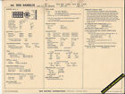 1968 RAMBLER AMC V8 290ci 200/225 hp Engine Car SUN ELECTRONIC SPEC SHEET