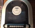 Naxa NX-157 Digital Display Radio CD Player Clock Alarm Silver and Black Color