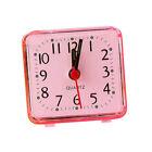 Creative Mini Square Quartz Clock Alarm Clock Bedroom Home Desk Clock Pink