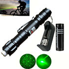 Military 5mw Green Laser Pointer Lazer Pen Beam Burn Zoom +18650 Battery Charger