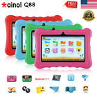 "7"" Quad Core 1+8GB Tablet for Kids 3G TF 64GB Google Android7.1 WiFi Bundle Case"