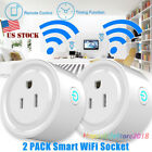 2 Pcs Smart WiFi Mini Outlet Plug Switch Works With RC Echo Alexa Timing Funtion