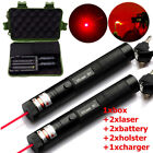 LOT Military 650nm Lazer Pen Laser Pointer Visible Beam +18650 Battery +Charger