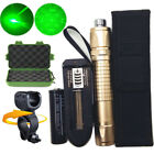 Military Green 532nm Laser Pointer Pen Light Beam Zoom +18650 Battery Charger US