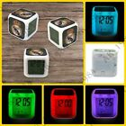 Real Madrid 7 colors Digital Glowing Alarm Thermometer Clock Night Light