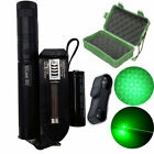 50 Mile Laser Pointer Kits Green 5MW Lazer Pen Beam Zoom Burn with 18650 Battery